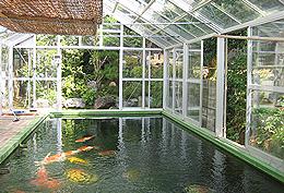 施工例:錦鯉温室