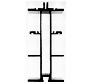 温室主要型材断面図:柱・梁